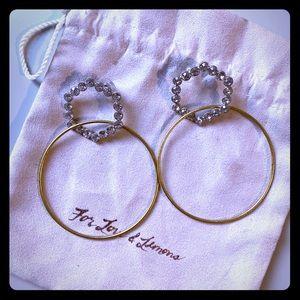For Love & Lemons hoop earrings!